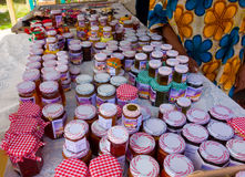 Local jams and jellies for sale in the caribbean Royalty Free Stock Photos