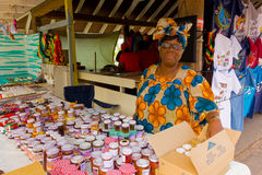 Local jams and jellies for sale in the caribbean Stock Photo