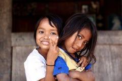 Village life Indonesian children smiling  Royalty Free Stock Image