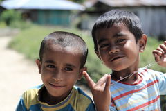 Indonesian children smiling Royalty Free Stock Image