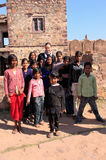 Local kids playing at Ranthambore Fort, India Royalty Free Stock Images
