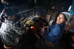 Local kitchen in Chin Mountains, Myanmar Stock Photo