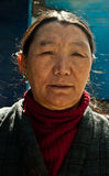 A local lady from Sikkim Stock Image