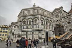 Local life in Piazza del Duomo, Florence Stock Images