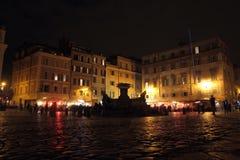 Local life in Piazza di Santa Maria in Trastevere, Rome Royalty Free Stock Image