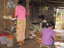 Local living in Laos royalty free stock photos