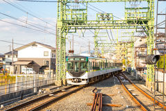 Local locomotive train at kyoto Stock Photography