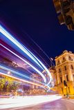 Speeding in London at night Royalty Free Stock Images