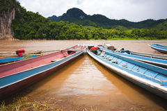 Local Long tail boat in river Stock Photo