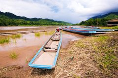 Local Long tail boat in river VI Stock Photo