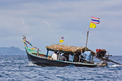 Local long-tail boat at Surin Island Stock Photo