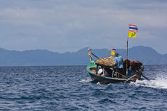 Local long-tail boat at Surin Island Royalty Free Stock Images