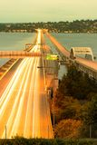 Local M Hadley Memorial Bridge sobre o lago Washington em Seattle fotografia de stock