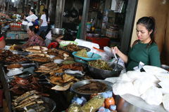 Local maket in Sihanoukville Royalty Free Stock Images
