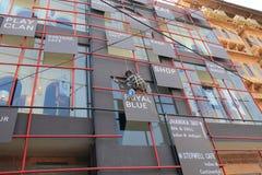Indian window cleaner Jodhpur India royalty free stock image