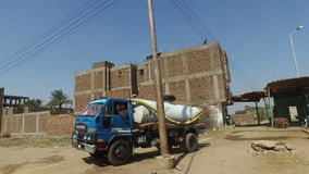 Local man driving water tank truck. LUXOR, EGYPT - FEBRUARY 10, 2016: Local man driving water tank truck stock video footage