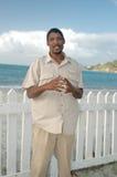 Local man on the island beach Stock Photos