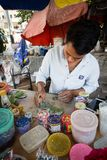 Paan chewing shop on the street in Yangon stock images