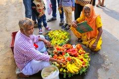Local man selling fruit outside Jama Masjid in Fatehpur Sikri, U Stock Photo