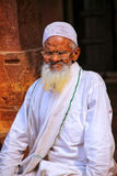 Local man sitting in the courtyard of Jama Masjid in Fatehpur Si Stock Photography