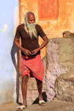 Local man standing by his house in Jaipur, Rajasthan, India Stock Photos