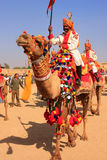 Local man taking part in camel procession at Desert Festival, Ja Royalty Free Stock Photography
