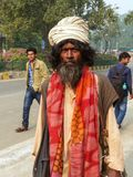 Local man walking in Taj Ganj neighborhood of Agra, Uttar Prades Stock Photos