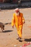 Local man walking to Galta Temple in Jaipur, Rajasthan, India Stock Photos