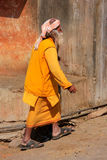 Local man walking to Galta Temple in Jaipur, Rajasthan, India Royalty Free Stock Photography