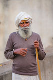 Local man walking to Galta Temple in Jaipur, Rajasthan, India Royalty Free Stock Images
