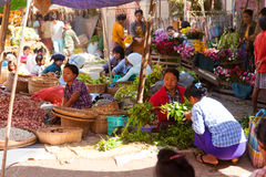 Local market in Bagan, Myanmar stock photo