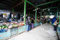 Local Market in Chin State, Myanmar Royalty Free Stock Photography