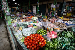 Local Market in Chin State, Myanmar Royalty Free Stock Photos