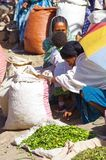 Local market products for sale in Lalibela stock photos