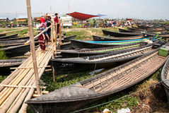 The local market in Inle lake, Myanmar Royalty Free Stock Images