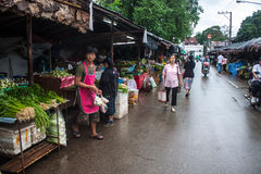 Local market in Mae Hong Son Royalty Free Stock Images