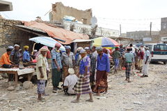 Local market in the main town on the Socotra island Royalty Free Stock Images
