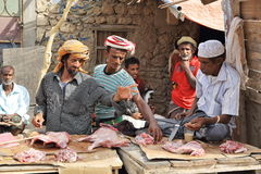 Local market in the main town on the Socotra island Stock Images