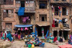 Local market in Nepal Royalty Free Stock Photo
