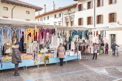 Local market outdoor in Nord Est of Italy. Stock Images
