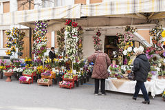 Local market outdoor in Nord Est of Italy. Stock Image