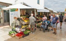 Local market in Porec, Crioatia. Royalty Free Stock Photos