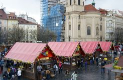 Local market in Prague Royalty Free Stock Image
