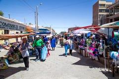 Local Market in Uyuni, Bolivia royalty free stock photos