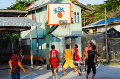 Local MBA Village Basketball Game Royalty Free Stock Image