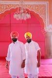 Local men standing in Diwan-i-Khas at Jaipur City Palace, Rajast Stock Photography