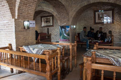 Local men in a tearoom in Khorramabad Stock Image