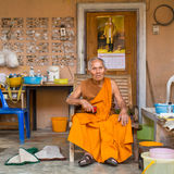 Local monk. The island is part of marine national Park Mu Ko Chang Royalty Free Stock Image