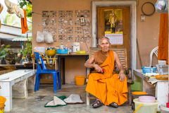 Local monk. The island is part of marine national Park Mu Ko Chang Royalty Free Stock Images