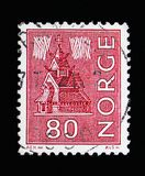 Local Motives, serie, circa 1970. MOSCOW, RUSSIA - MAY 13, 2018: A stamp printed in Norway shows Local Motives, serie, circa 1970 Royalty Free Stock Photo